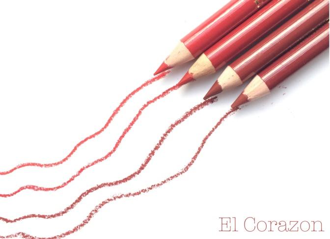 Beauty Chart красных карандашей для губ от El Corazon