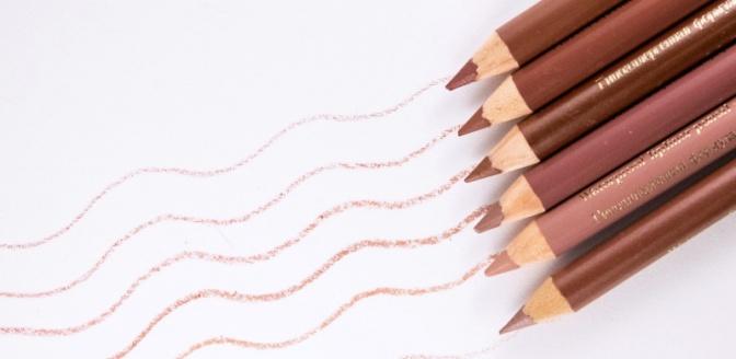6 оттенков розового: от нежных до сливовых — карандаши для губ El Corazon